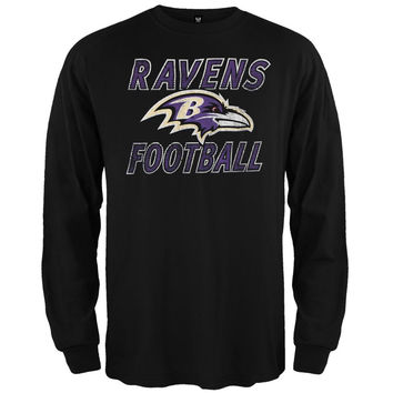 Baltimore Ravens - Flanker Logo Premium Long Sleeve T-Shirt