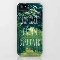 Explore. Dream. Discover. iPhone Case by Ally Coxon