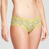Women's Micro Cheeky Hipster - Gilligan & O'Malley™ Rose Yellow Floral M