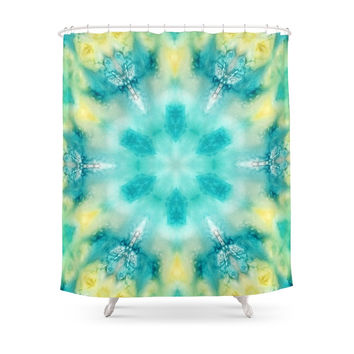 Society6 Watercolor Tie Dye Shower Curtains