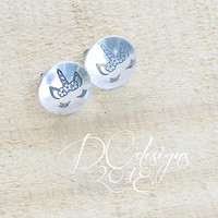 Unicorn Jewelry, Unicorn Birthday, Stud Earrings, Sterling Silver Earrings, Silver Stud Earrings, Flower Girl Gift, Best Friend Gift
