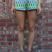 Cosmic Printed Shorts