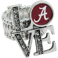 Alabama Crimson Tide Womens Love Stretchy Ring