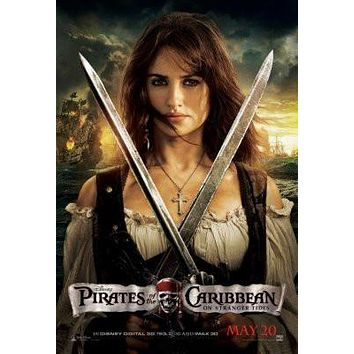 Pirates Of The Caribbean On Stranger Tides Movie poster Metal Sign Wall Art 8in x 12in