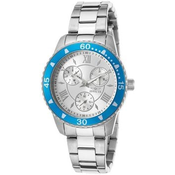 Invicta 21772 Women's 'Angel' Quartz Stainless Steel Silver-Toned Watch