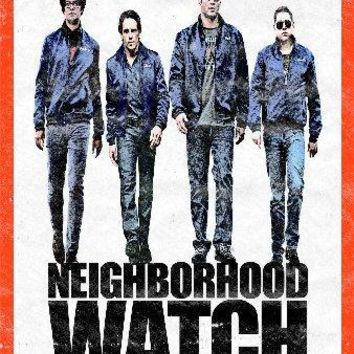 Neighborhood Watch Mini movie poster Sign 8in x 12in
