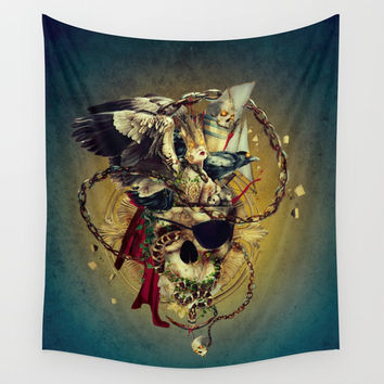 Lost In The Sea Wall Tapestry by RIZA PEKER