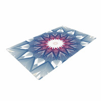 "Angelo Cerantola ""Starburst"" Blue Digital Woven Area Rug"