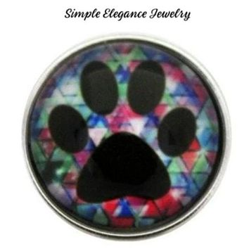 Paw Print Snap Charm 20mm for Snap Jewelry
