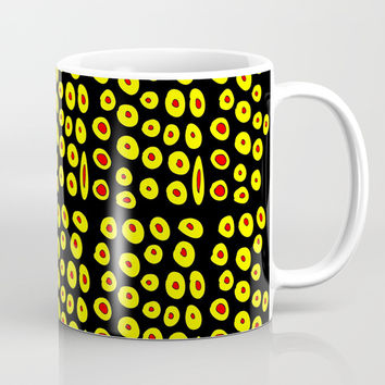 red and yellow polka dot- polka,polka dot,dot,pattern,circle,disc, point,abstract, minimalism Coffee Mug by oldking