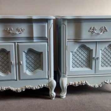 Two Stunning Vintage French Provincial Nightstands