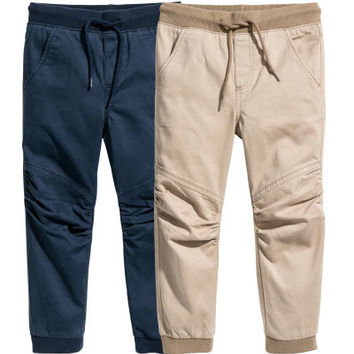 2-pack Twill Joggers - from H&M