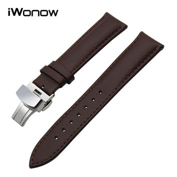 18mm Genuine Leather Watchband for Withings Activite / Pop / Steel HR 36mm Fossil Q Tailor LG Watch Style Wrist Band Strap Brwon