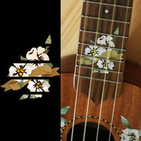 Hibiscus Fret Marker For Soprano Ukulele Inlay Stickers Decals