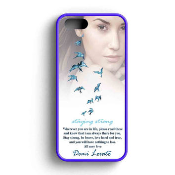 Demi Lovato Quotes Staying Strong Mjm iPhone 5 Case iPhone 5s Case iPhone 5c Case