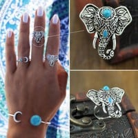With Gift Box Shiny Jewelry Stylish New Arrival Gift Accessory Bohemia Vintage Ring [9659224906]