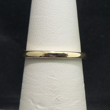 Vintage Classic Solid 14K Yellow Gold 2mm High Polish Wedding Band - Size 5
