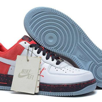 PEAPON Nike Air Force 1 AF Red For Women Men Running Sport Casual Shoes Sneakers