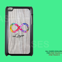 Ipod Touch 4 Case - Infinity Love Forever Apple Ipod 4G iTouch Case, 4th Gen Ipod Touch Cases, Unique Cases For 4th Generation Ipods