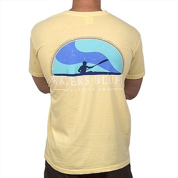 Paddler Tee Shirt in Butter Yellow by Waters Bluff
