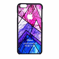 Geometric Colorful Pattern Cracked Out iPhone 6 Case