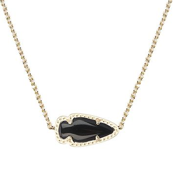 Skylie Gold Pendant Necklace in Black - Kendra Scott Jewelry