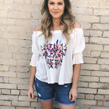 Petunia Embroidered Top