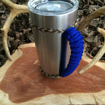 Royal Blue/Camo Paracord Yeti 20 oz. Rambler Handle Grip