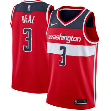 Men's Washington Wizards Bradley Beal Nike Red Swingman Jersey - Icon Edition