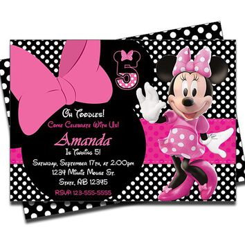 Minnie Mouse Birthday Invitations