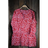 Ikat Tunic - Red
