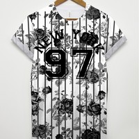 97 Flower New York All Over T Shirt