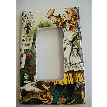 Alice in Wonderland rocker switch plate retro vintage Victorian fantasy decor