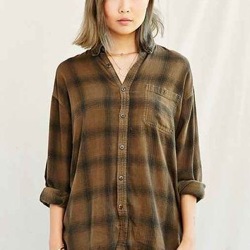Urban Renewal Recycled Overdyed Flannel