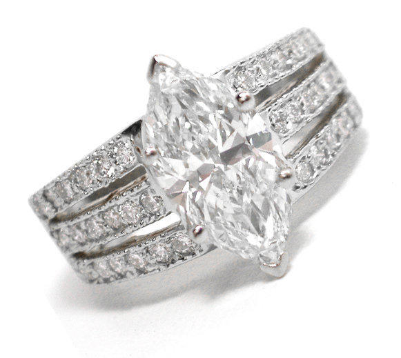 Platinum And Channel Set Diamond Ring Guard