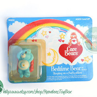 Vintage Care Bear Bedtime Bear Mini: Unopened 1980s Toy MOC