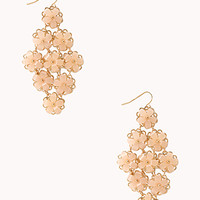 FOREVER 21 Delicate Floral Chandelier Earrings