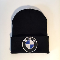 BMW limited edition logo black knit beanie