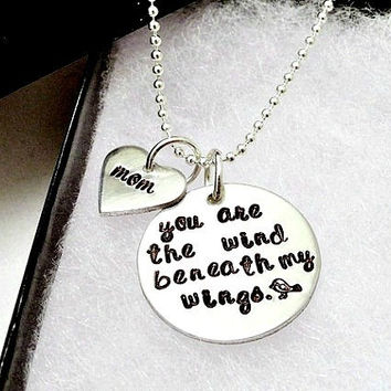 Hand Stamped Necklace  You Are The Wind by ImprintedDesigns