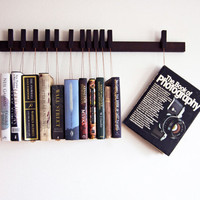 Custom made wooden book rack / bookshelf in Wenge. by OldAndCold