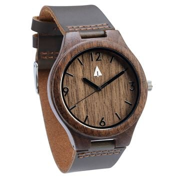 Wooden Watch // Chocolate Double Walnut