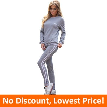 Winter Tracksuit Women Clothing Hoodies Set Letter Print Casual Long Sleeve Sport Suit Costumes Sweatshirt+Pants