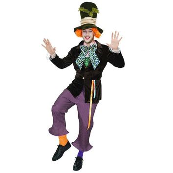 Funny clown Halloween Costumes masquerade fancy dress Men's clown circus Clothing For joker clown Party Role Play Clothing