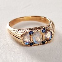 Labradorite and Sapphire Ring in 14k Rose Gold by Arik Kastan Blue All Rings