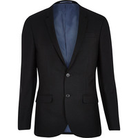 River Island MensBlack slim suit jacket