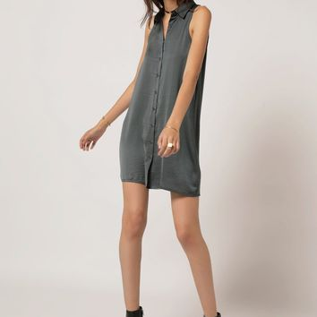 Sleeveless Button Down Dress