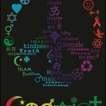Coexist Black Light Poster