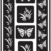 "butterfly reusable glass etching stencil - 5"" x 8"""