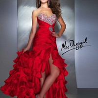 Strapless Red Prom Dress - 4946M | Mac Duggal