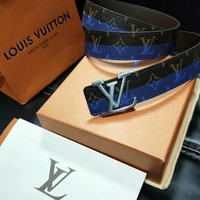 Louis Vuitton LV Fashion Smooth Buckle Belt Leather Belt
